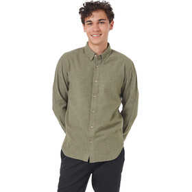tentree Veddar Flannel LS Shirt Men olive night green